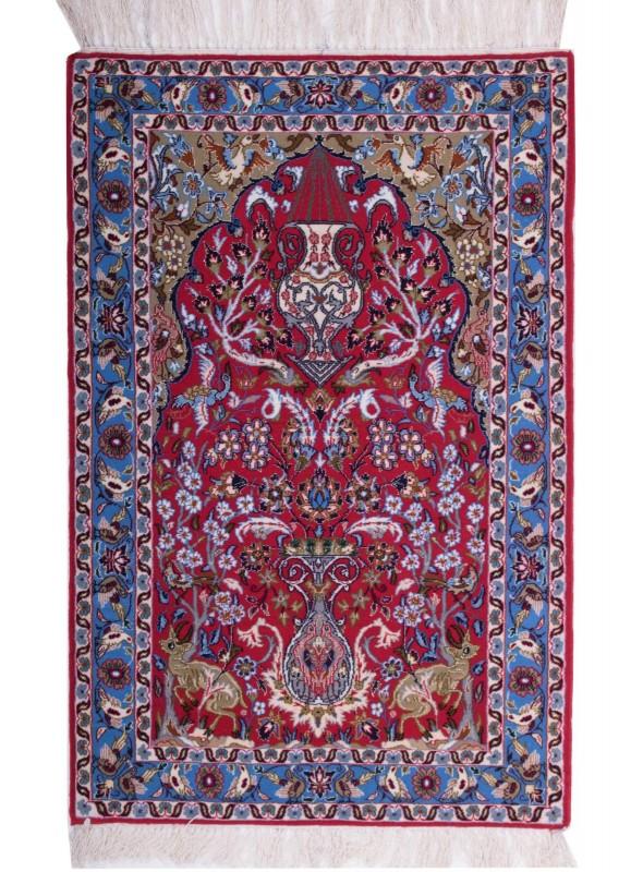 Ogromnie Ręcznie tkany dywan z wełny tradycyjny Isfahan Iran motyw wnęki WW96