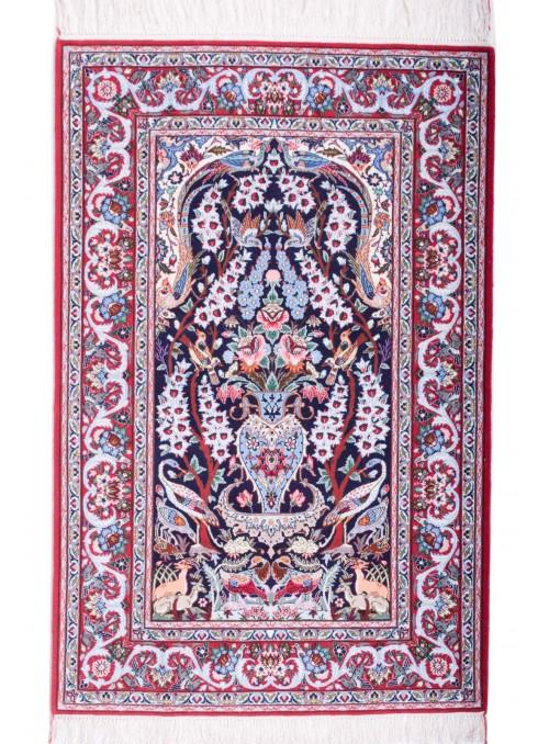 Ręcznie tkany dywan perski Isfahan Iran 105x160cm wełna i jedwab