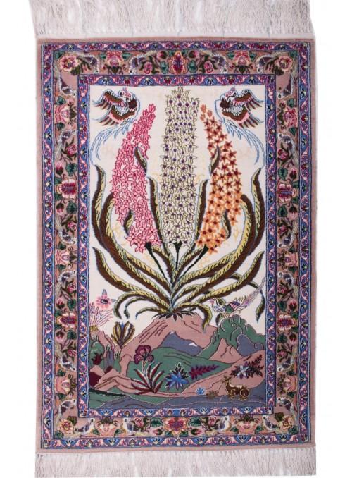 Ręcznie tkany dywan perski Isfahan Iran 70x100cm wełna obrazowy
