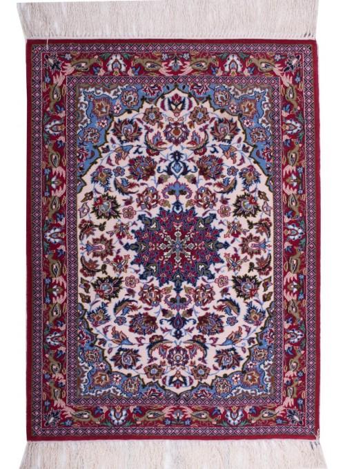 Ręcznie tkany dywan perski Isfahan Iran 70x100cm wełna kwiatowy