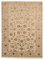 Luxury hand made carpet Tabriz 205x305cm wool and silk beige/brown