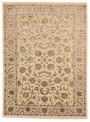 Luxus Orient Teppich Handgeknüpft Iran Tabriz 205x305cm Wole mit Seide beige/braun