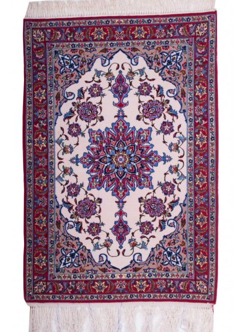 Hand-made persian luxury carpet Isfahan ca. 70x100cm wool Iran