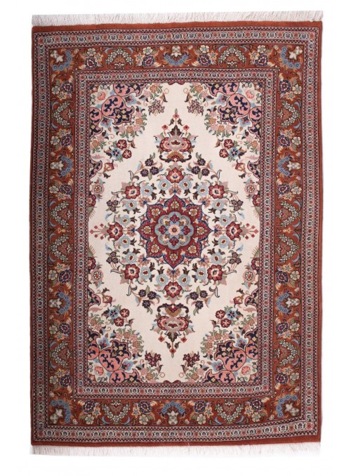 Hand-made persian luxury carpet Qum ca. 100x150cm 100% wool Iran