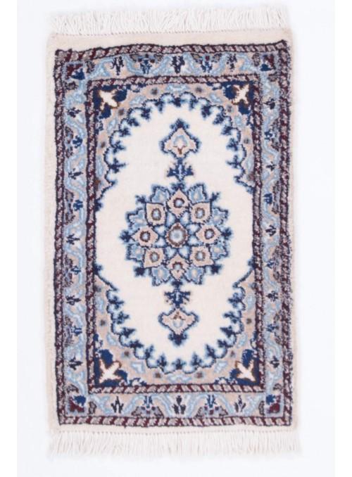 Hand-made persian luxury carpet Nain 9la ca. 40x60cm 100% wool Iran