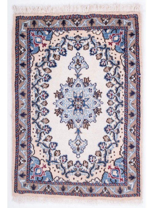 Hand-made persian luxury carpet Nain 9la ca. 60x80cm 100% wool Iran