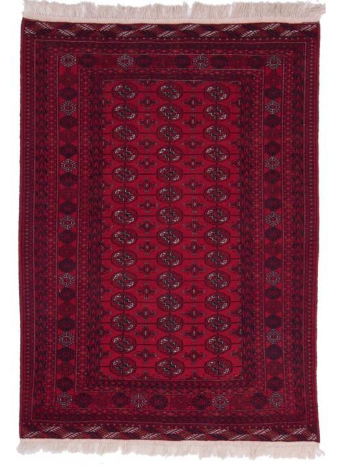 Ręcznie tkany dywan Afganistan Mauri czerwony ok 120x180cm 100% wełna