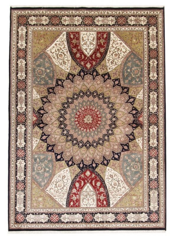 Hand made Iran carpet Tabriz Gonbad 190x285cm wool/silk