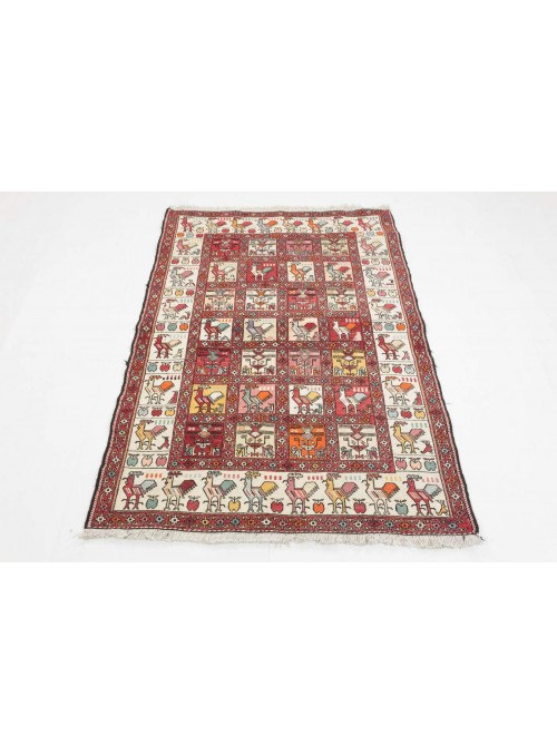Hand-woven persian luxury carpet Sumakh ca. 100x150cm silk and wool Iran