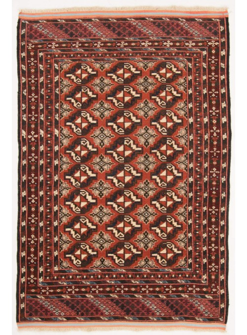 Hand-made luxury carpet Chapabaft Mauri Afghanistan ca. 120x180cm 100% wool