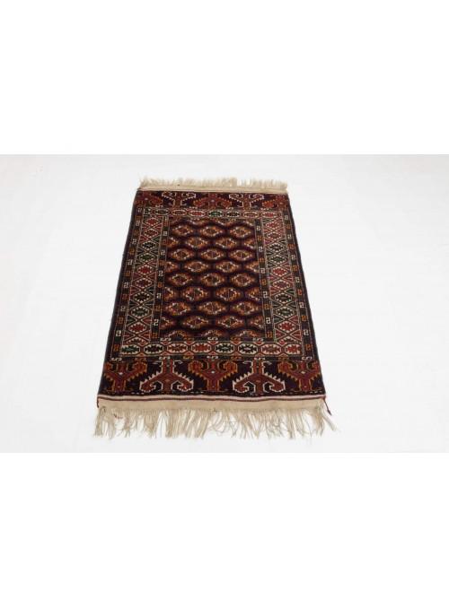 Luxus Turkmenistan Bashir Teppich ca. 110x140cm 100% Schurwolle rot