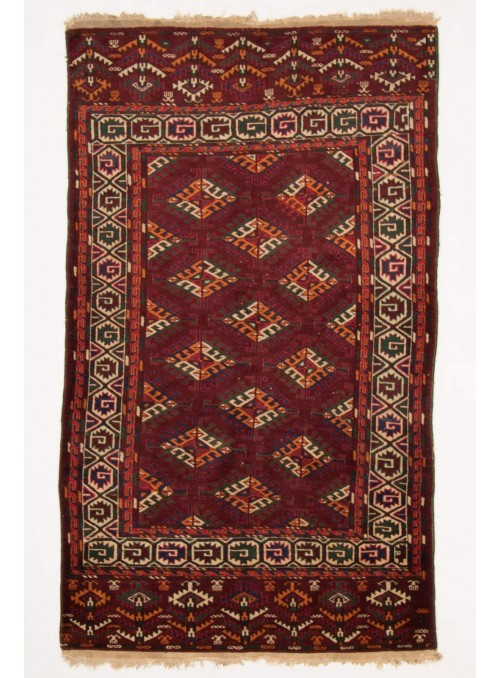 Luxus Turkmenistan Turkmen Teppich ca. 120x200cm 100% Schurwolle rot