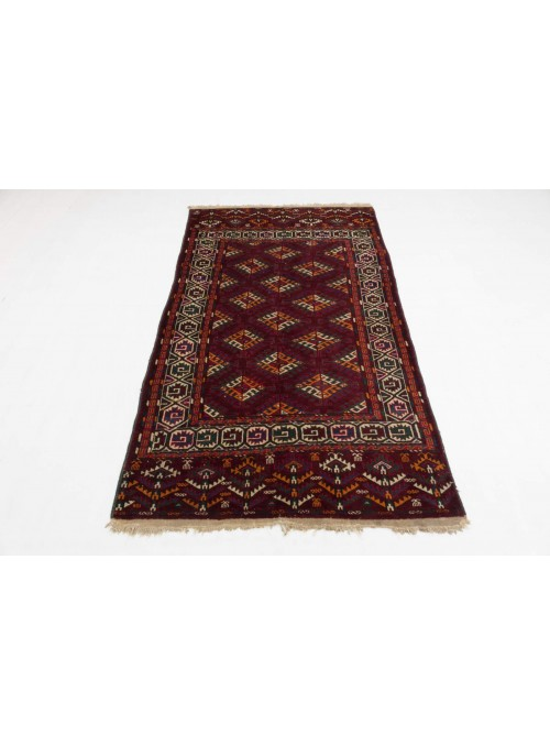 Hand-made luxury carpet Turkmenistan Turkmen ca. 120x200cm 100% wool