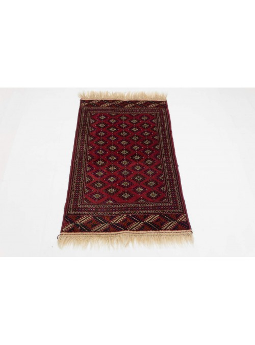 Hand-made luxury carpet Turkmenistan Buchara ca. 80x130cm 100% wool