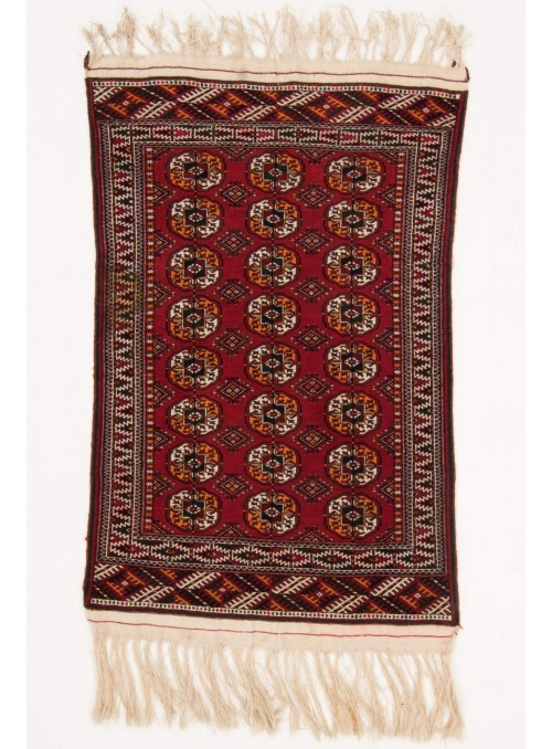 Hand-made luxury carpet Turkmenistan Turkmen ca. 90x140cm 100% wool
