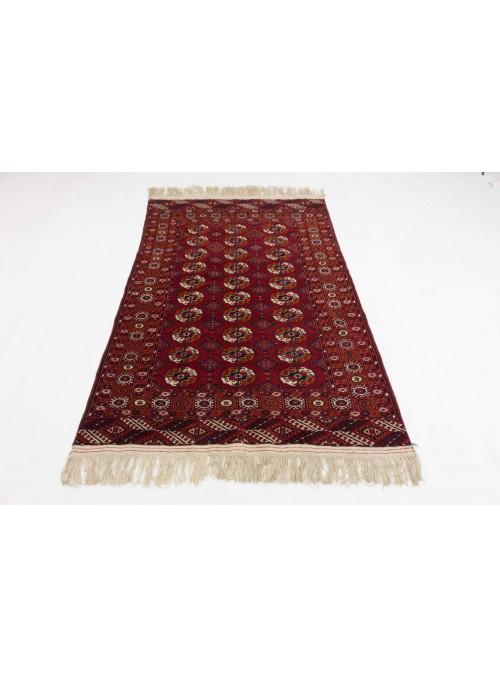 Luxus Turkmenistan Turkmen Teppich ca. 130x190cm 100% Schurwolle rot