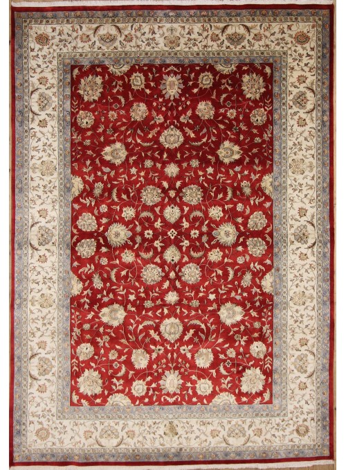 Klasyczny dywan perski Tabriz 240x340cm 100% wełna czerwony