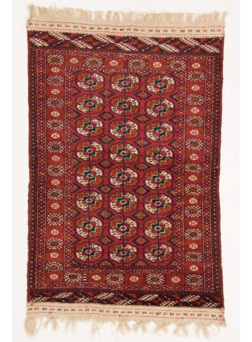 Hand-made luxury carpet Turkmenistan Turkmen ca. 100x140cm 100% wool
