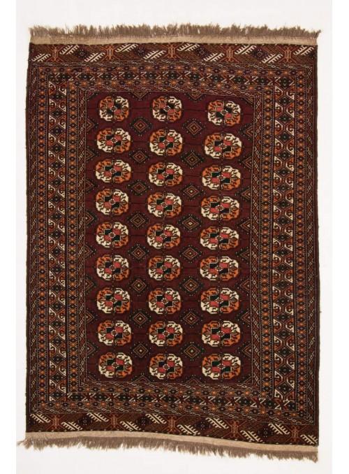 Ręcznie tkany dywan Turkmenistan Turkmen czerwony ok 130x180cm 100% wełna