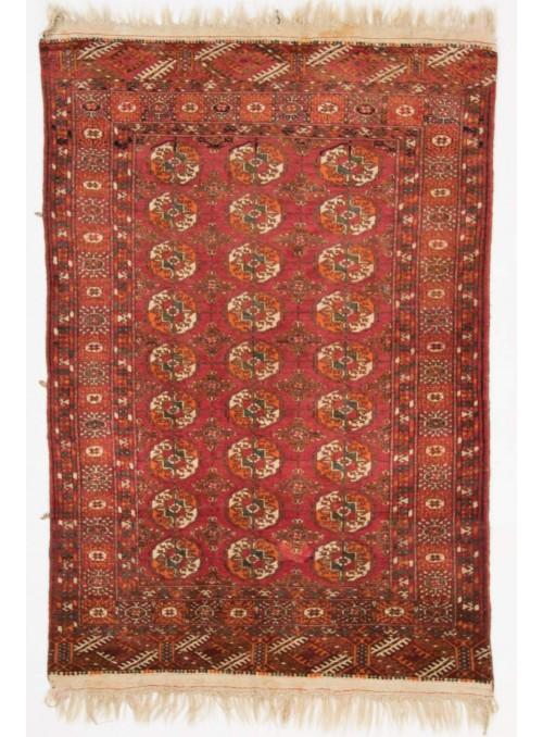 Ręcznie tkany dywan Turkmenistan Turkmen czerwony ok 110x160cm 100% wełna