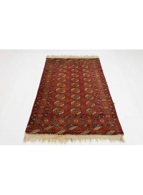 Luxus Turkmenistan Turkmen Teppich ca. 110x160cm 100% Schurwolle rot
