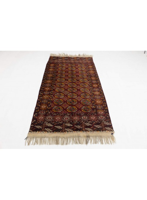 Hand-made luxury carpet Turkmenistan Turkmen ca. 110x200cm 100% wool