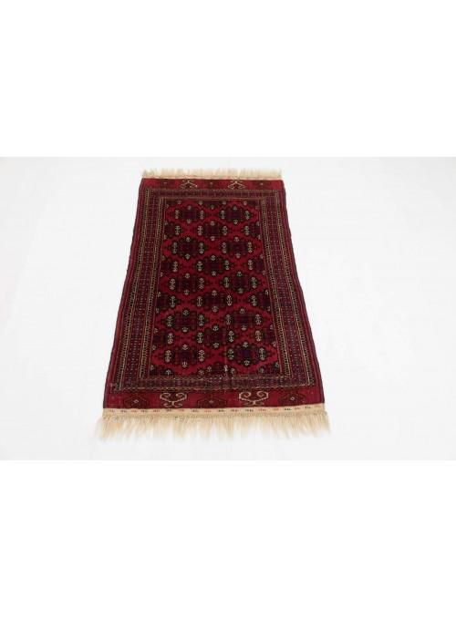 Ręcznie tkany dywan Turkmenistan Buchara czerwony ok 85x120cm 100% wełna