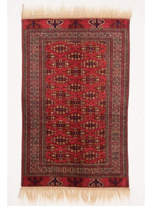 Ręcznie tkany dywan Turkmenistan Jomud czerwony ok 130x180cm 100% wełna