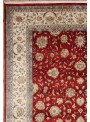Classic hand made carpet Tabriz 240x340cm wool and silk red