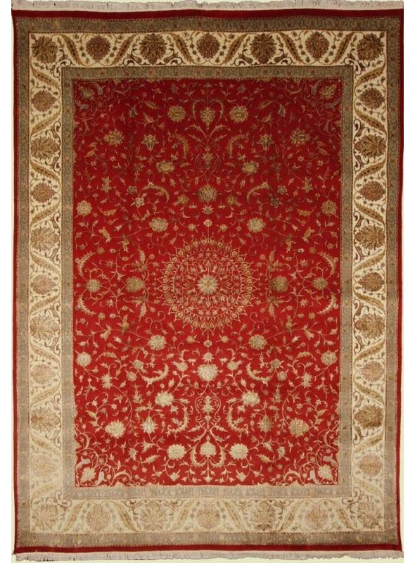 Klassisch Orient Teppich Handgeknüpft Iran Tabriz 245x350cm Wole mit Seide