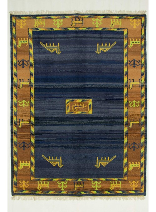 Hand-made ethnical carpet Indo-Gabbeh ca. 190x240cm 100% wool