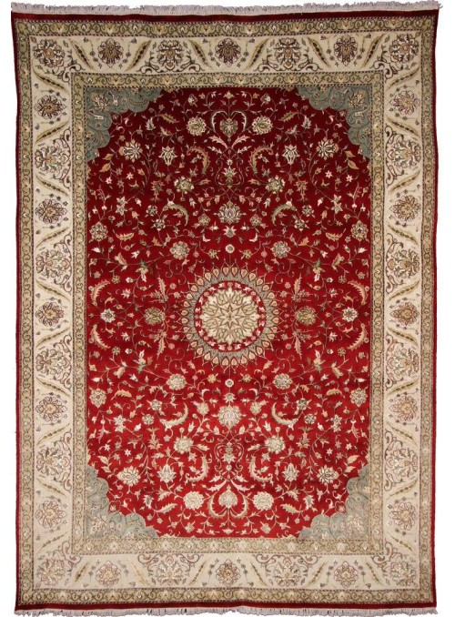 Klasyczny dywan perski Tabriz 245x345cm 100% wełna czerwony