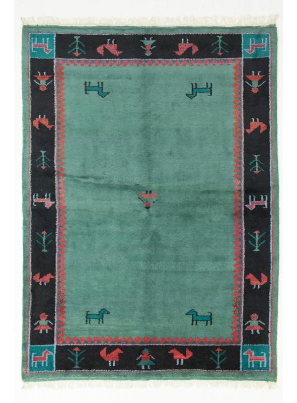 Hand-made ethnical carpet Indo-Gabbeh ca. 200x250cm 100% wool