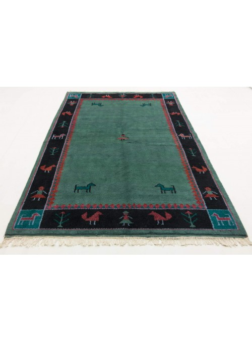 Hand-made ethnical carpet Indo-Gabbeh ca. 200x250cm 100% wool