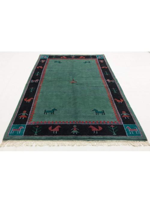 Ręcznie tkany etniczny dywan Indo-Gabbeh 200x250cm wełna