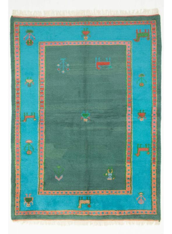Hand-made ethnical carpet Indo-Gabbeh ca. 180x240cm 100% wool