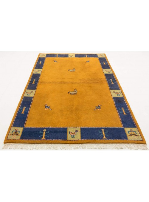 Hand-made ethnical carpet Indo-Gabbeh ca. 180x240cm 100% wool