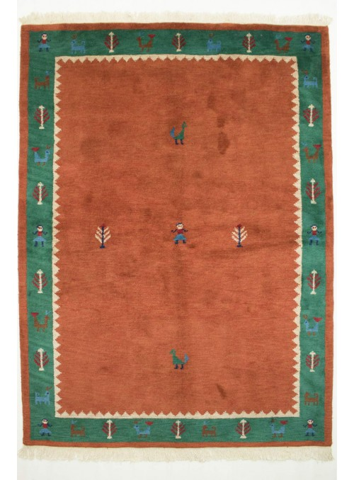Hand-made ethnical carpet Indo-Gabbeh ca. 170x240cm 100% wool
