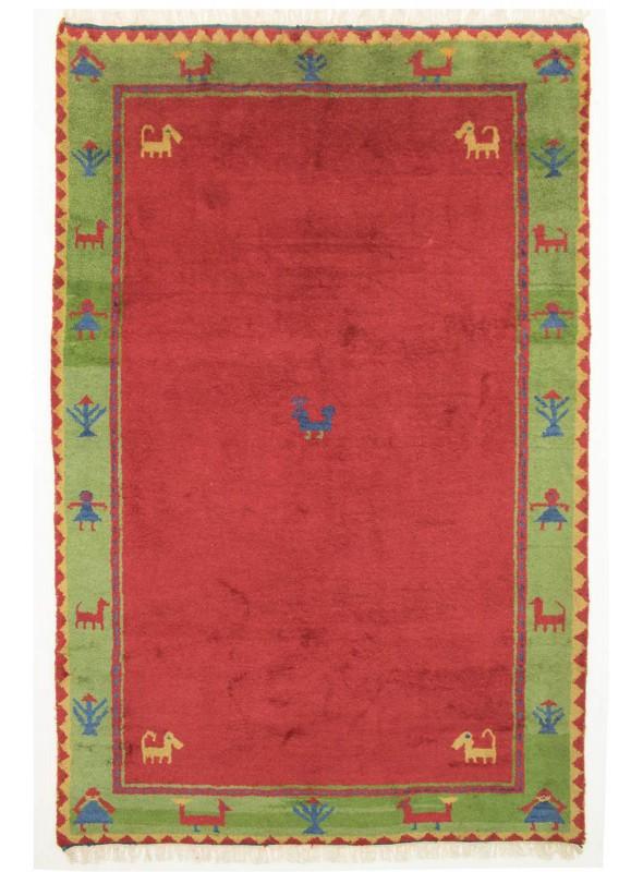 Hand-made ethnical carpet Indo-Gabbeh ca. 200x300cm 100% wool