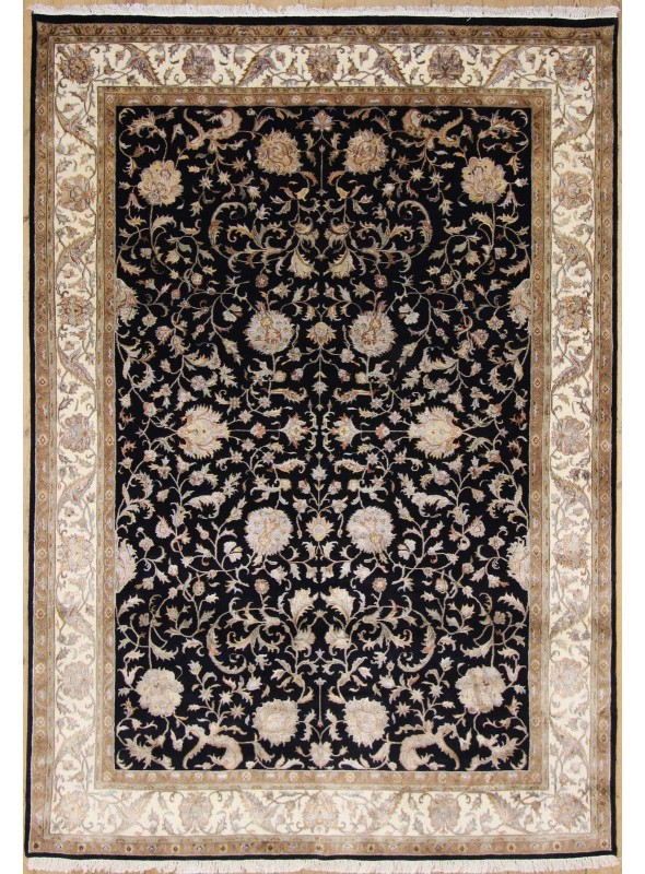 Luxury hand made carpet Tabriz 250x300cm wool and silk