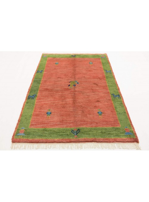 Hand-made ethnical carpet Indo-Gabbeh ca. 140x200cm 100% wool