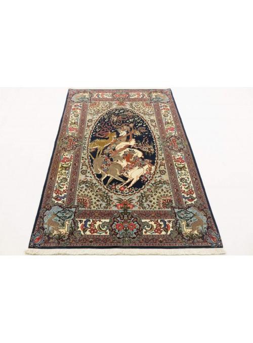 Ręcznie tkany dywan perski Kom Iran 130x210cm 100% wełna obrazowy
