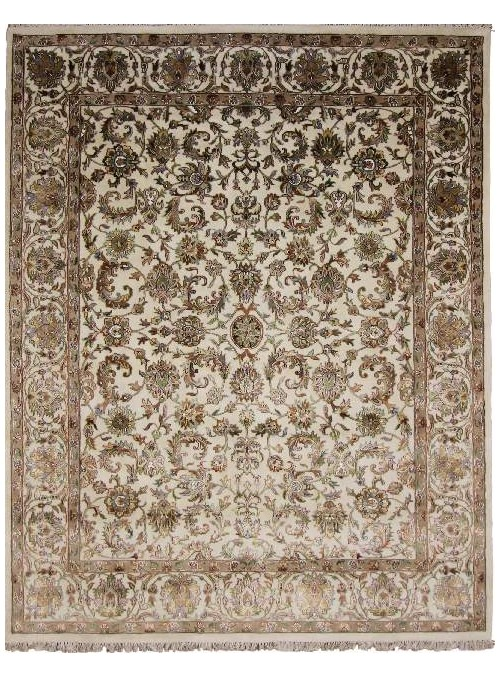 Hand made carpet Tabriz 250x300cm wool and silk beige