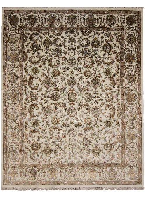 Hand made carpet Tabriz 250x300cm wool and silk beige