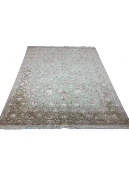 Orient Teppich Handgeknüpft Iran Tabriz  220x290cm Wole mit Seide beige