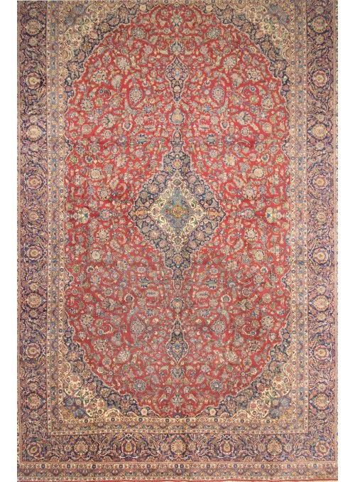Hand-made giant persian carpet Keshan ca. 600x400cm 100% wool Iran