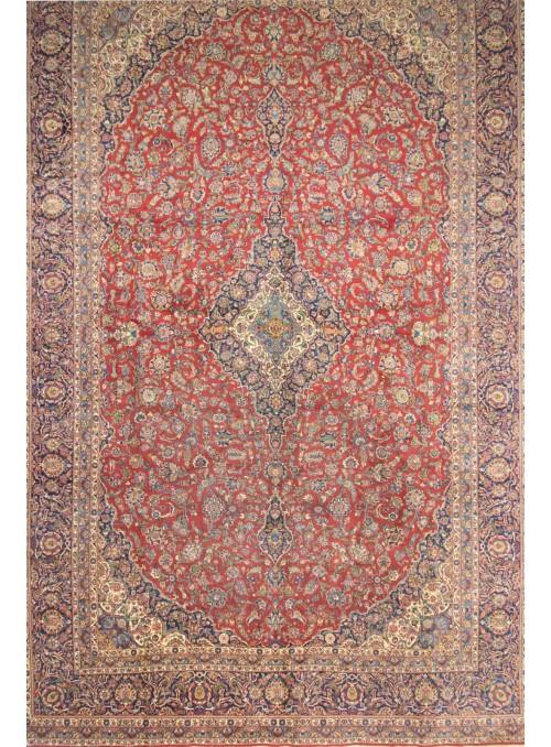 Ręcznie tkany wielki dywan perski Keszan Iran ok 600x400cm wełna