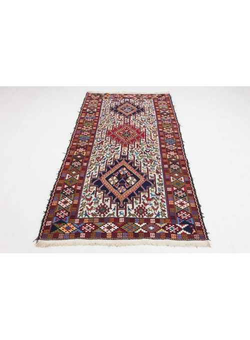 Hand-woven persian luxury carpet Sumakh flat woven ca. 120x205cm wool Iran