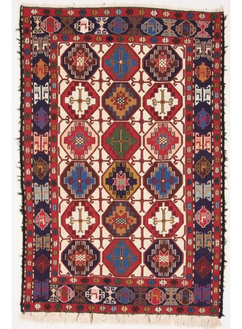 Perser luxus teppich Sumakh Shahsavan 140x200cm flach gewebt Wolle und Seide Iran