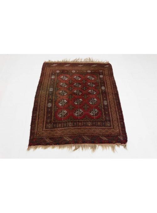 Luxus Afghanistan Antik Teppich Mauri Antik ca. 120x140cm 100% Schurwolle rot